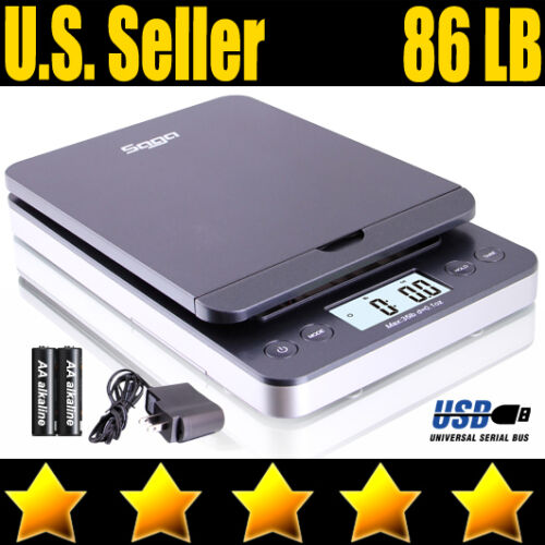 86 LB DIGITAL POSTAL SHIPPING SCALE by SAGA X 0.1 OZ WEIGHT POSTAGE W/AC USB M S in Business & Industrial, Packing & Shipping, Shipping & Postal Scales | eBay
