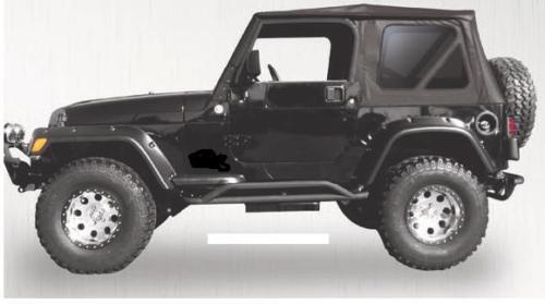 87 95 Jeep Wrangler black Complete Soft Top w/ Hardware