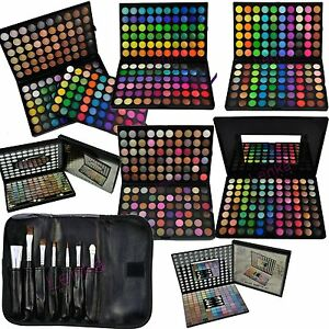 88-96-120-180-Lidschatten-Palette-7-Gratis-Pinsel-Set-Kosmetik-Make-UP