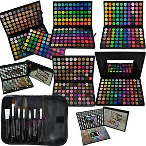 88-96-120-Lidschatten-Palette-7-Gratis-Pinsel-Set-Kosmetik-Make-UP