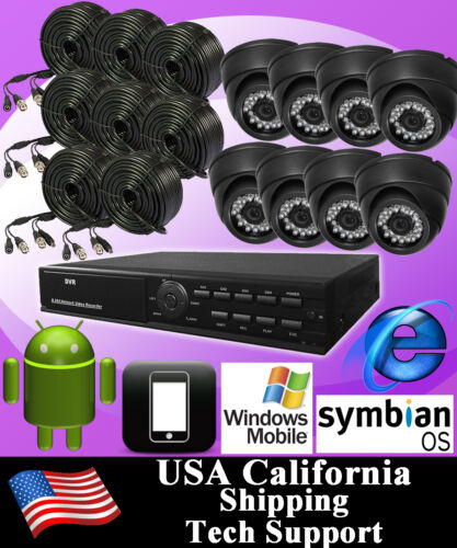 8CH 8 CHANNELS Home Video Surveillance CCTV DVR Security System + 8 color Camera in Consumer Electronics, Home Surveillance, Digital Video Recorders, Cards | eBay