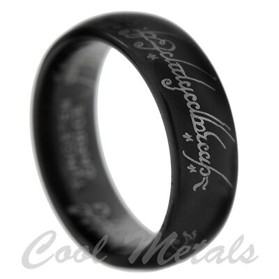 8MM BLACK TUNGSTEN LORD OF THE RINGS BAND SIZE 6 7 8 9 10 11 12 13 14 15 in Jewelry & Watches, Men's Jewelry, Rings | eBay