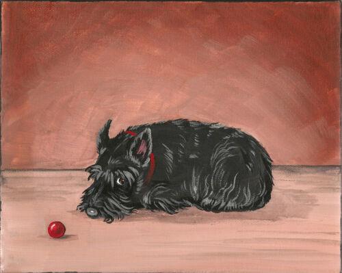 8X10 PRINT OF ORIGINAL PAINTING SCOTTISH TERRIER SCOTTIE RYTA DOG ART PORTRAIT in Art, Direct from the Artist, Paintings | eBay