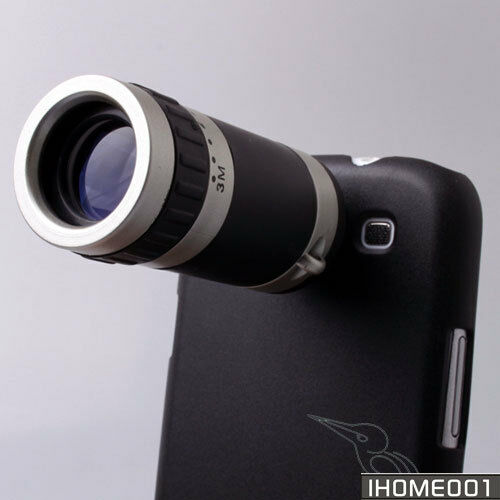 8XZoom Telescope Camera Lens case cover f Samsung Galaxy S3 SIII GT i9300 black in Cell Phones & Accessories, Cell Phone Accessories, Cases, Covers & Skins | eBay
