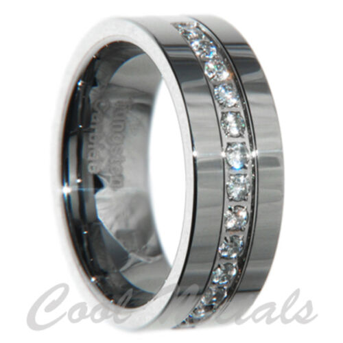 8mm Tungsten Carbide CZ Men Wedding Band Ring Size 7 8 9 10 11 12 13 14 15 in Jewelry & Watches, Men's Jewelry, Rings | eBay