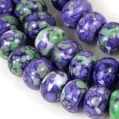 "8x5mm Rain Flower Stone Jasper Rondelle Beads 16"" in Jewelry & Watches, Loose Beads, Stone | eBay"