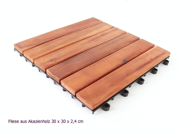 9 holzfliesen fliesen klickfliesen akazienholz 30 x 30 cm. Black Bedroom Furniture Sets. Home Design Ideas