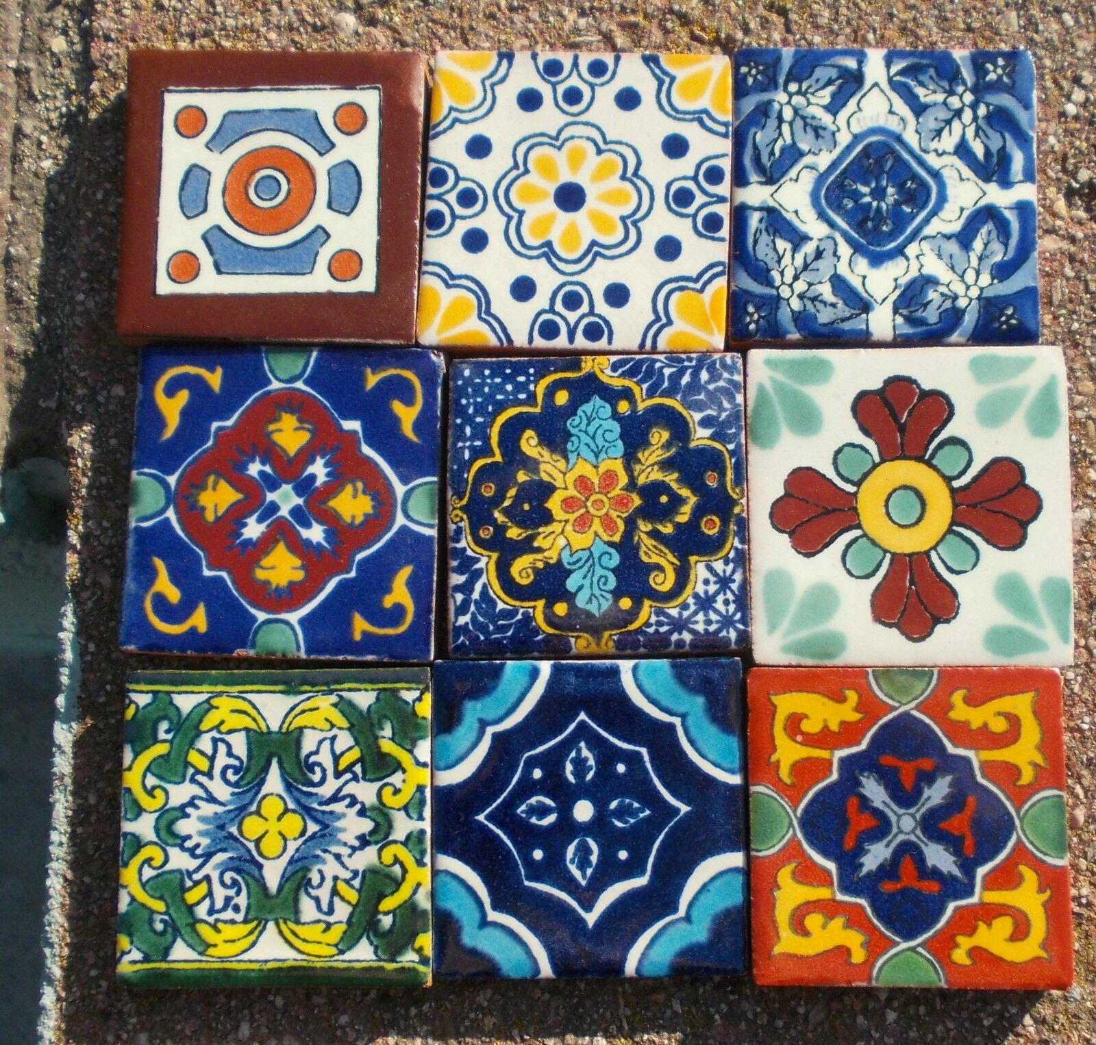 Mexican Wall Tiles : Mexican talavera pottery quot clay tile hand painted wall