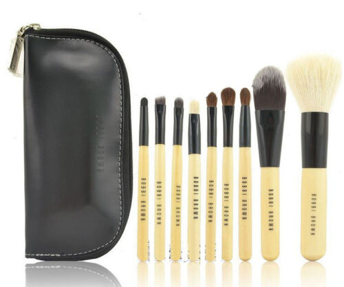 9 PCS Set Pro Cosmetic Make up Brush Tool Kit + Zipper Leather Pouch Case #F803 in Health & Beauty, Makeup, Makeup Tools & Accessories | eBay