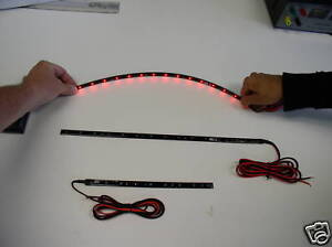 "9"" Red LED Strip Light 12v. Flexable - Self Adhesive in eBay Motors, Parts & Accessories, Car & Truck Parts 