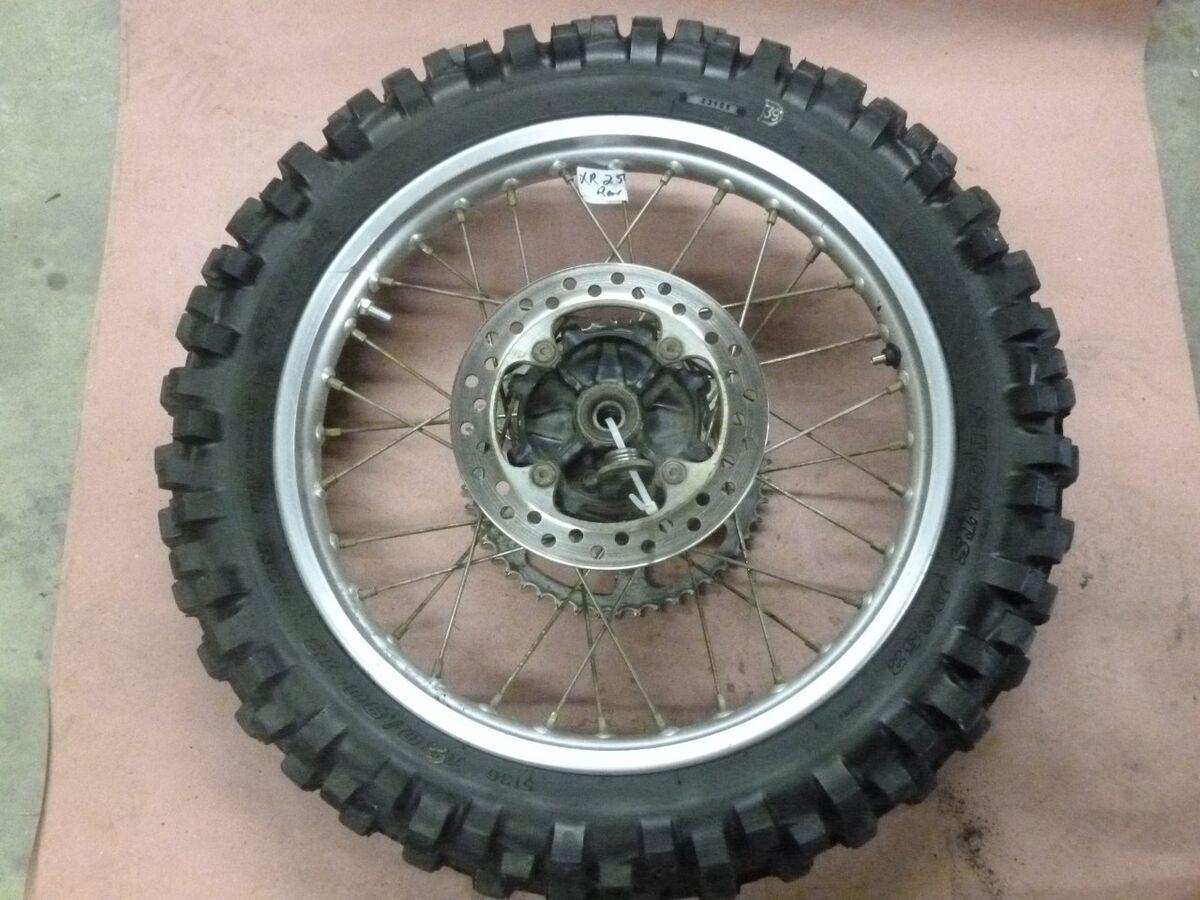 90 94 Honda XR250 R XR250R Rear Wheel N Tire Dunlop 120 90 18