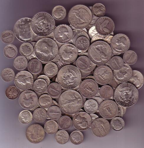 90% Junk Silver US Coins lot of 1/2 oz. Standard Wt.-Pre 1965-No Clad Or Nickles in Coins & Paper Money, Coins: US, Collections, Lots | eBay