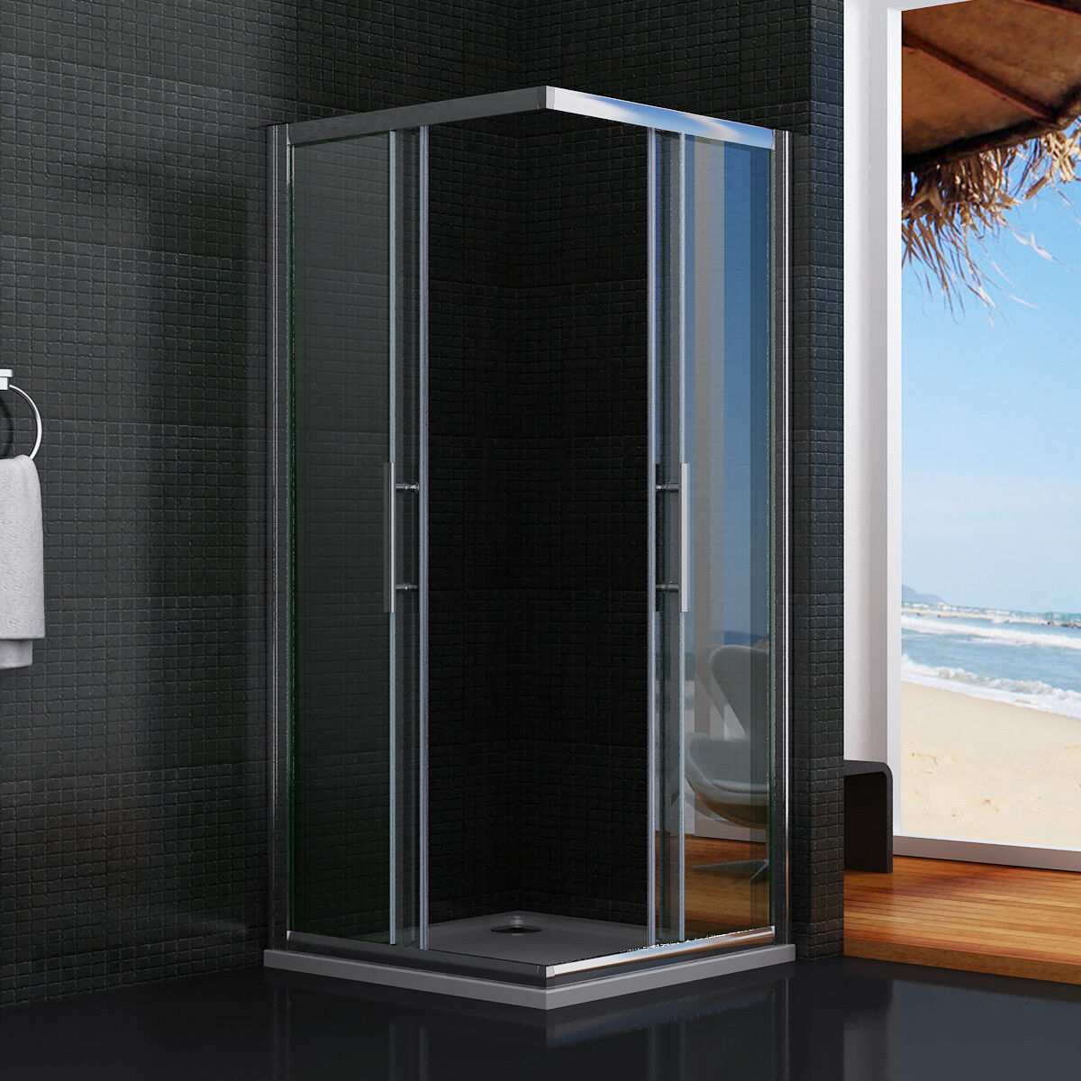 Dusche Schiebet?r Eckeinstieg : Shower Enclosure Sliding Door