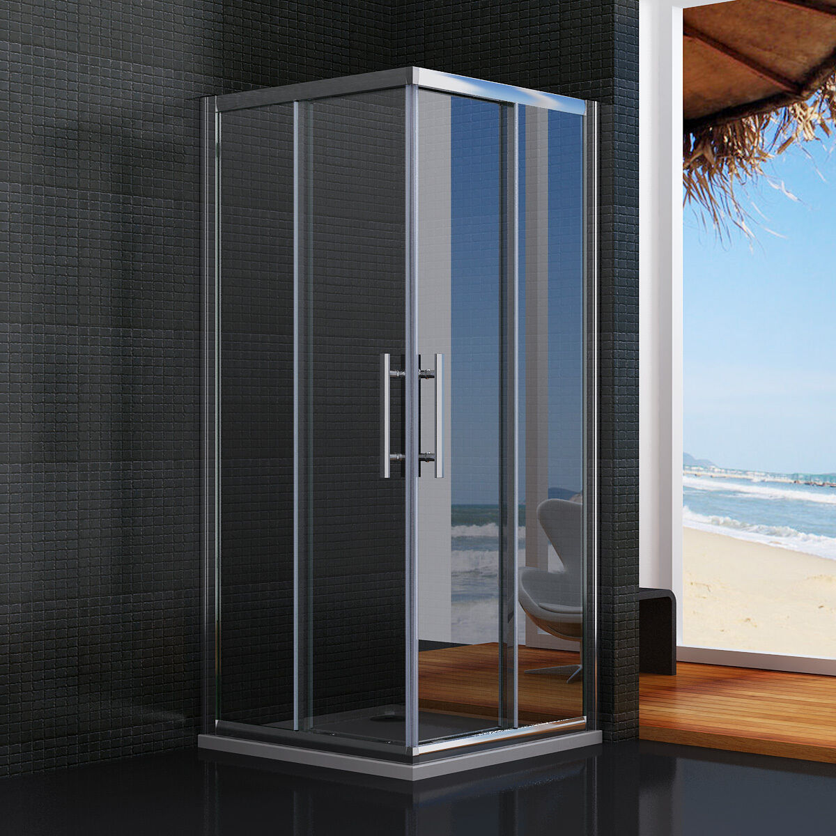 Dusche Schiebet?r Eckeinstieg : Sliding Corner Entry Shower Door