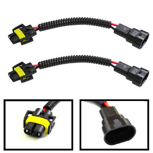9006 to H11 Headlights Conversion Pigtail Connectors Wiring Harness (1 pair)