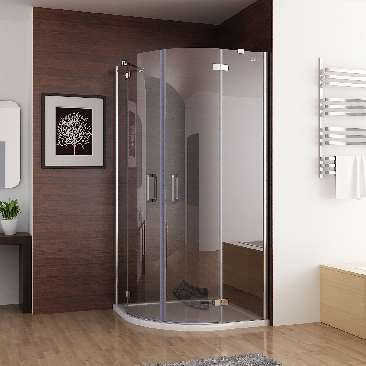 duschkabine runddusche duschabtrennung dusche echtglas viertelkreis 90x90 80x80 ebay. Black Bedroom Furniture Sets. Home Design Ideas