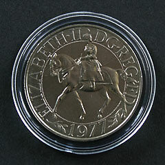 925-Sterling-Silver-Medallion-Coin-Queens-Silver-Jubilee-Commemorative-Crown