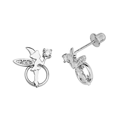 .925 Sterling Silver Tinkerbell Children Screwback Earring Kids & Women in Jewelry & Watches, Children's Jewelry, Earrings | eBay