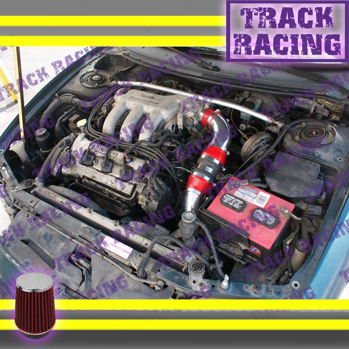 93 94 95 96 97 ford probe gt mazda mx6 626 2 5l v6 cold air intake kit red