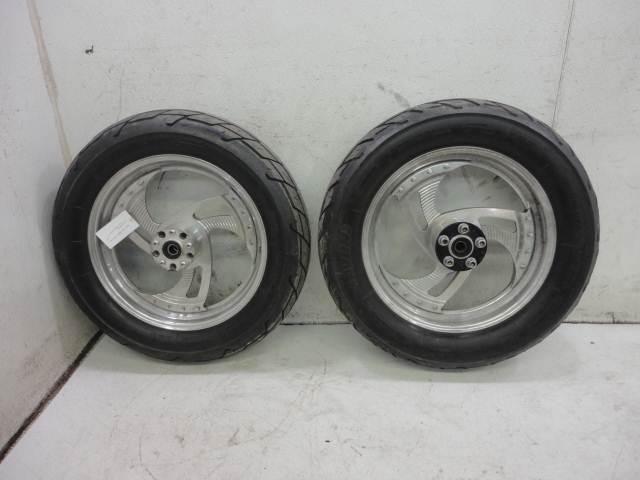 93 Harley Davidson Softail FXSTC Aftermarket Wheel Rim Wheels Rims Set