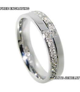 950 Platinum Womens Anniversary Wedding Bands Rings