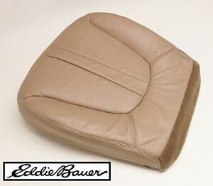 97 99 ford expedition eddie bauer driver side bottom leather seat cover tan ebay. Black Bedroom Furniture Sets. Home Design Ideas