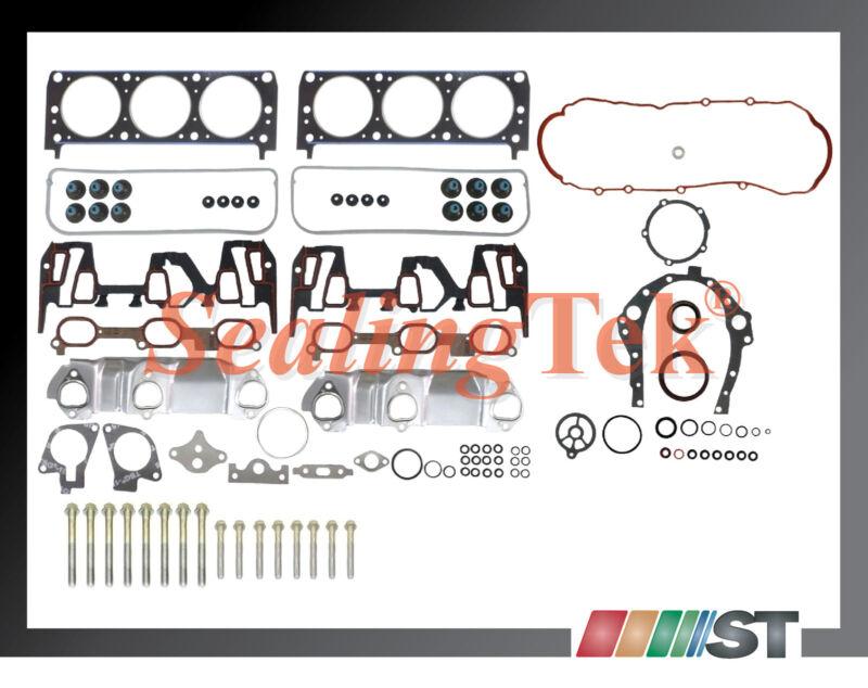 99 03 GM 3100 3 1 189 V6 Vin J Full Gasket Set w Bolts Engine Cylinder Parts