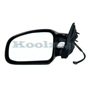 99-03 Grand AM Power Black Dual Arm Twin-Post Rear View Mirror Left Driver Side