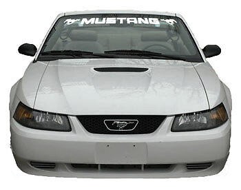 99 04 Ford Mustang Front Windshield Banner Vinyl Decal