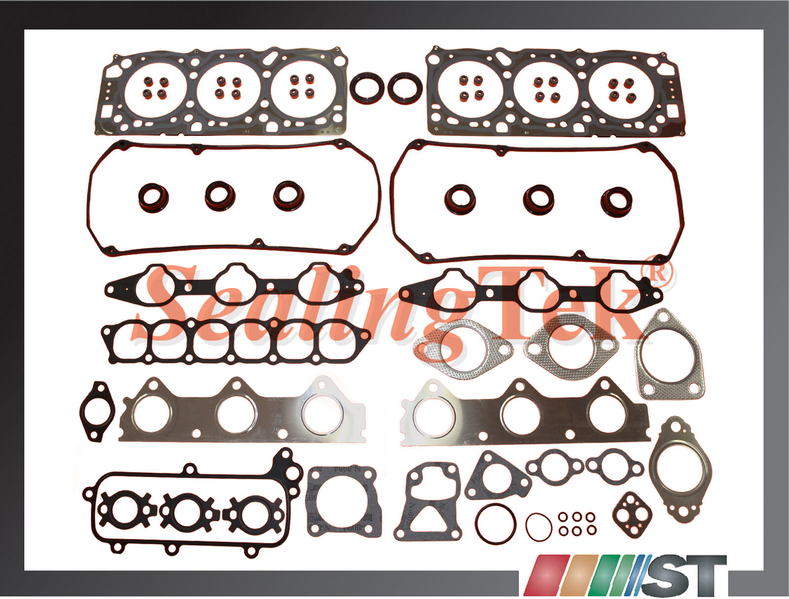 Details about Fit 99-05 Mitsubishi 3 0L 6G72 SOHC 24-Valve Engine Cylinder  Head Gasket Set kit