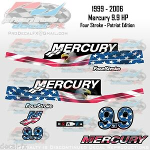 99 06 mercury 9 9hp 4s patriot edition four stroke custom for Custom outboard motor decals