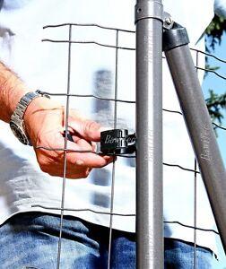 9x zaun befestigung schwarz zaunpfosten halterung 34mm. Black Bedroom Furniture Sets. Home Design Ideas