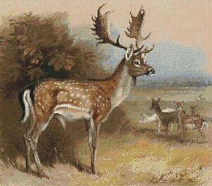 Cross Deer Pattern Stitch