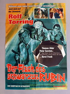 A1-Filmposter-FLUCH-DES-SCHWARZEN-RUBIN-13-DAYS-TO-DIE-German-1-Sheet-1965