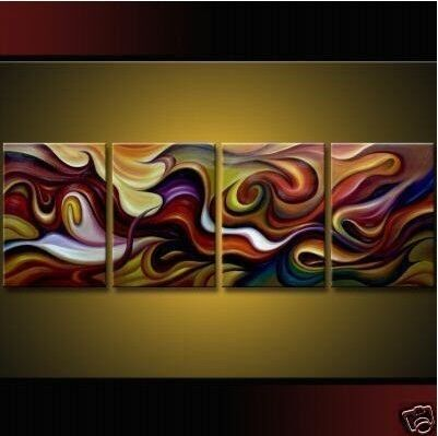 A1567 Hot sale 4pcs Huge Modern Abstract on Canvas Art Oil Painting+free gift in Art, Art from Dealers & Resellers, Paintings | eBay