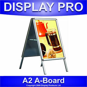 A2-A-BOARD-PAVEMENT-SIGN-POSTER-SNAP-FRAME-DISPLAY-STAND-ADVERTISING-SHOP-BOARDS