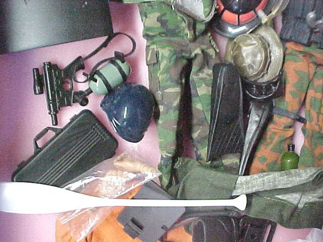 A6 some vintage lot of GI Joe action figures doll Many accessories