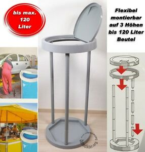 abfallsammler 120 l m llsackst nder abfalleimer f r gelber sack ebay. Black Bedroom Furniture Sets. Home Design Ideas