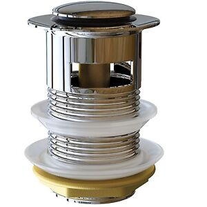 ablaufgarnitur ablauf ventil push open pop up ohne kipphebel mit berlauf p1. Black Bedroom Furniture Sets. Home Design Ideas