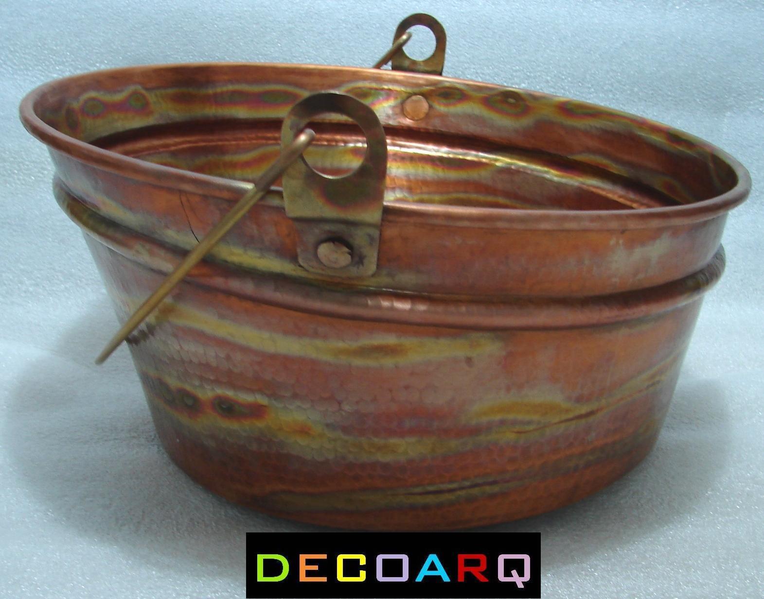 Bucket Vessel Sink : ... COUNTER INCLINED Bucket DESIGN COPPER SINK FIRE PATINA FARM STYLE