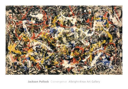 ABSTRACT ART PRINT - Convergence by Jackson Pollock 28x40 Poster in Art, Art from Dealers & Resellers, Prints | eBay