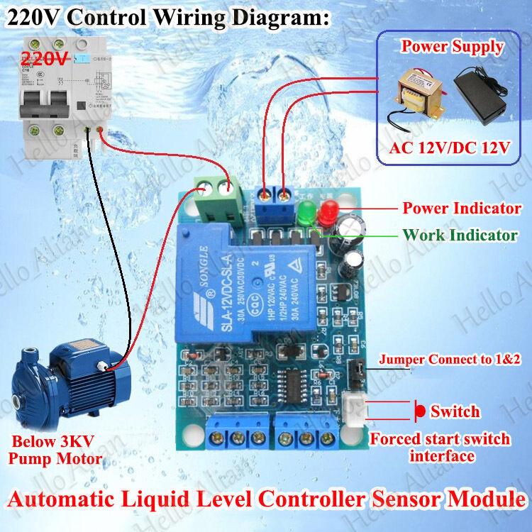 AC/DC 12V Automatic Liquid Water Level Controller Sensor Module ...