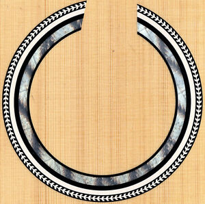 acoustic classical guitar rosette sound hole waterslide decal sticker mk 190 ebay. Black Bedroom Furniture Sets. Home Design Ideas