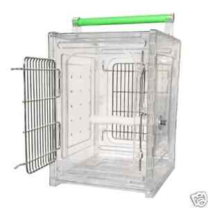 ACRYLIC PARROT TRAVEL CARRIER CAGE bird cages toy toys Quakers, Lories, Senegal in Pet Supplies, Bird Supplies, Cages | eBay