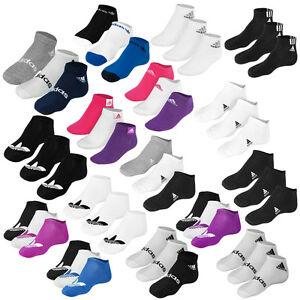 ADIDAS-3er-PACK-TREFOIL-SOCKS-SNEAKER-SOCKEN-FUSSLINGE-STRUMPFE-3-PAAR-DIVERSE