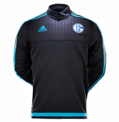 Details zu ADIDAS FC Schalke 04 Kinder Sweatshirt Trainings Top Pullover ClimaCool 128 176