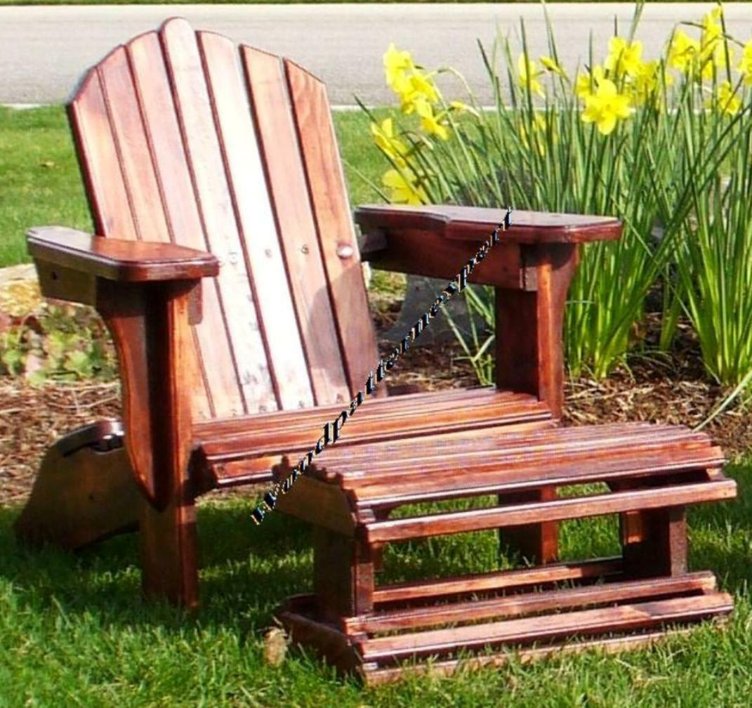 Adirondack Chair W Foot Rest Paper Patterns Build It Like