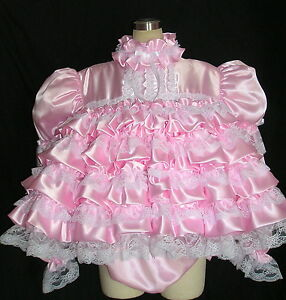 ADULT SISSY BABY BUBBLE DRESS SET panties LS. Mouse over image to zoom