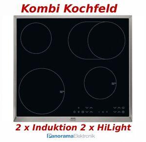 Aeg hk634150xb kombi kochfeld autark 2 x induktion 2 x for Kochfeld induktion 2 platten