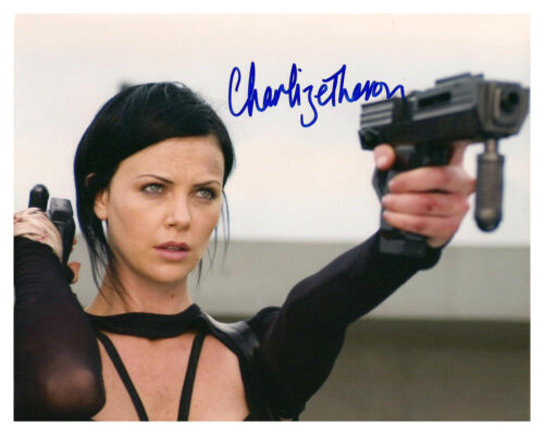 ** * AEON FLUX * ** CHARLIZE THERON Autographed Glossy Photo RP in Entertainment Memorabilia, Autographs-Reprints, Movies | eBay